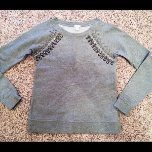 J. Crew Grey Pullover Crewneck Sweater Size S